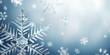 canvas print picture - Macro Snowflake and Fallen Defocused Snowflakes