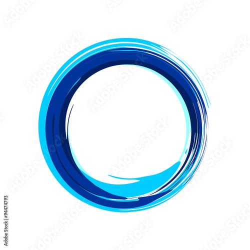 Fotografía  Blue Zen Symbol