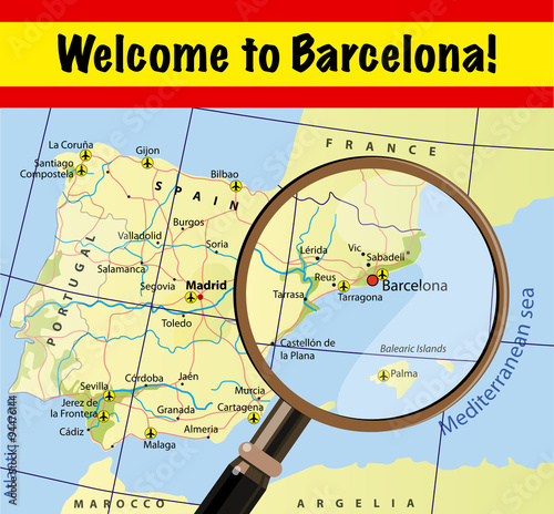 Map Of Spain With Airports.Welcome To Barcelona Map Of Spain With Airports Buy This Stock