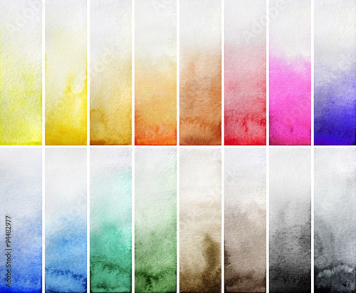 Watercolor gradient rectangles Canvas-taulu