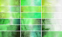 Green Watercolor Gradient Rectangles