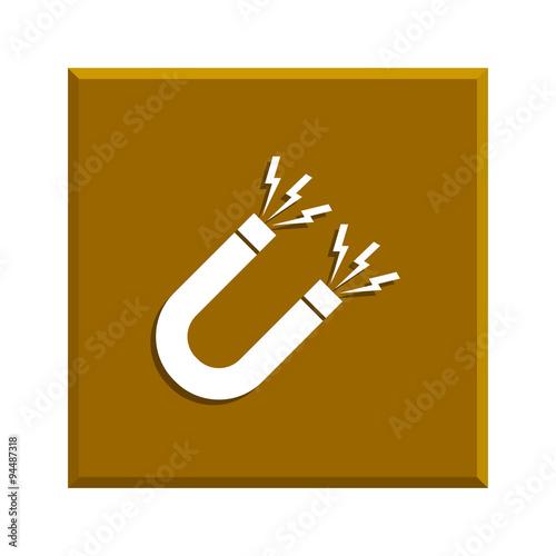 Magnet Symbol. Flat design style. – kaufen Sie diese Vektorgrafik ...