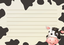Paper Design With Cow And Skin