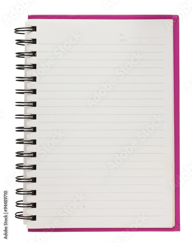 Fotografie, Tablou  Spiral blank notebook  isolated on white