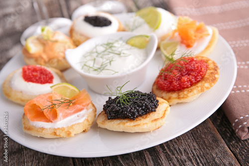Recess Fitting Appetizer assorted canape