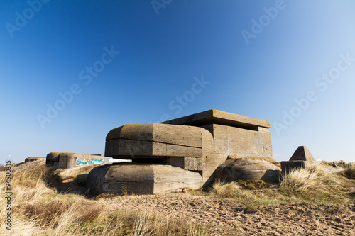 Fotografie, Obraz  Coastal WW2 bunker in the dunes of Ijmuiden, The Netherlands