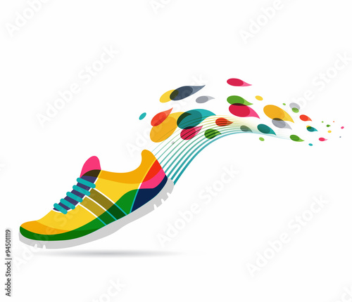 Vector poster - running and sport - 94501119