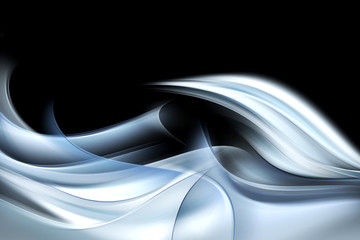 Panel Szklany Dym Awesome Abstract Blue Wave Design