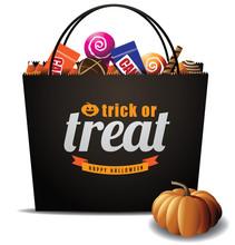 Trick Or Treat Halloween Bag R...