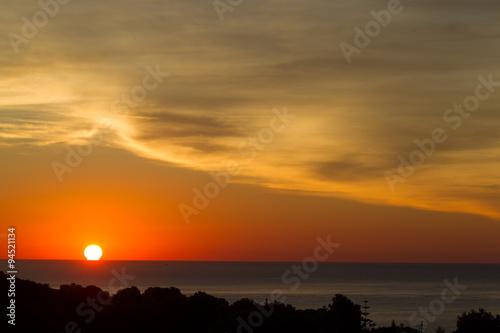 Keuken foto achterwand Oranje eclat Spanish sunrise