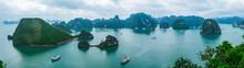 Panorama Of Halong Bay, Vietnam