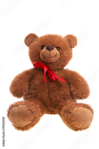 teddy bear isolated over white