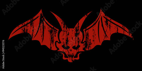 Concept design vector , red devil Poster Mural XXL