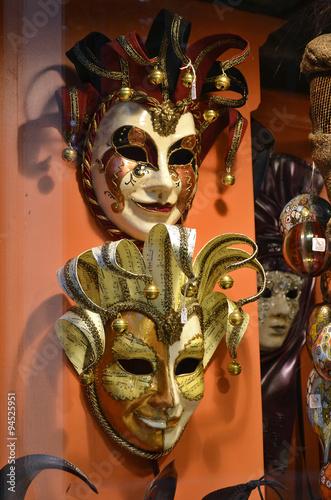 Fotobehang Schilderkunstige Inspiratie Detail of Venice Typical Carnival Mask