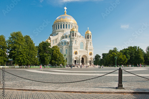 Foto op Plexiglas Cyprus Naval Cathedral in Kronstadt