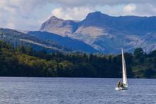 Sailboat In Lake Windermere,  ...