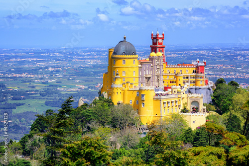 Fotografía  Panoramic view of Pena palace, Sintra, Portugal