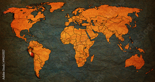 peru territory on world map - Buy this stock illustration and ...