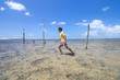 Trekking across coral reefs in Brazil