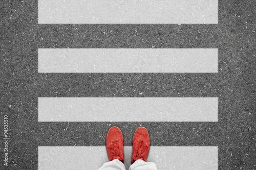 Fotografie, Obraz  Th t zebrastreifen I