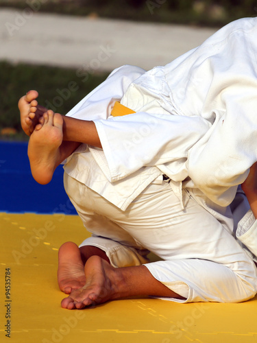 Photo  martial arts combat during the sporting event