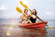 Kayaking Adventure Happiness Recreational Pursuit Couple Concept
