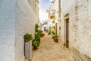 The Trulli houses of Alberobello in Apulia in Italy