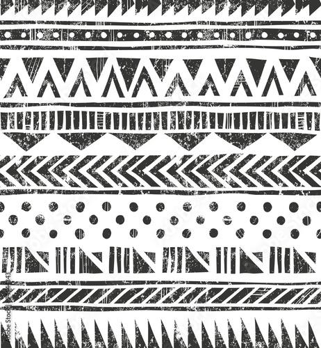 Vector seamless tribal texture Wallpaper Mural