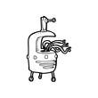 line drawing cartoon weird robot