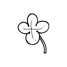 Line Drawing Cartoon  Four Leaf Clover