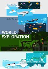 World Exploration Banner Backg...