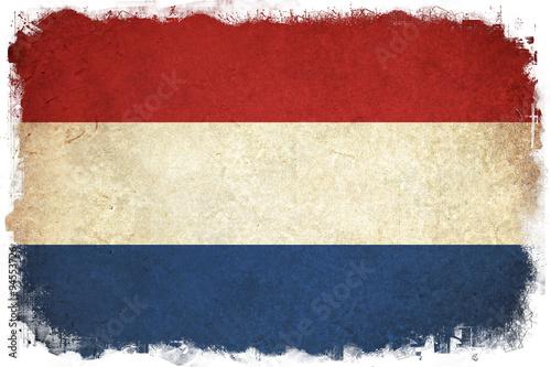 Canvas Print Netherlands grunge flag illustration of european country