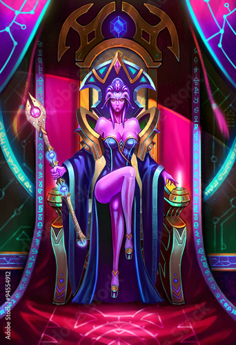 Photo  Illustration: The Paramount Queen of Light Sits on the Throne - Her army was severely damaged but she don't know who had done so