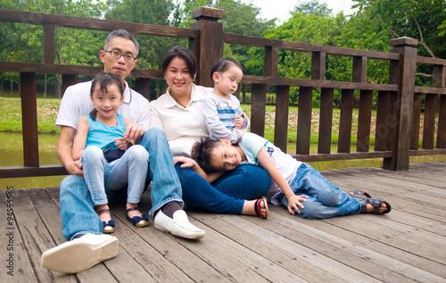 Fototapeta asian family obraz na płótnie