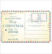Vintage Christmas And Happy New Year Holiday Postcard