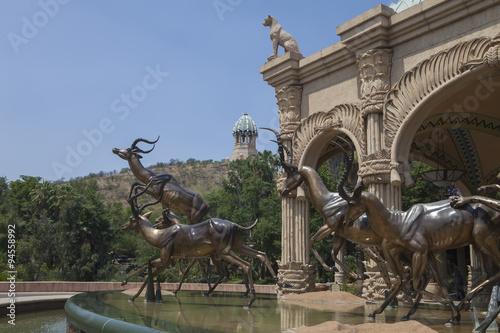 Foto op Canvas Bronze sculptures of antelopes, Sun City, South Africa