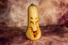 Scary Smilling Halloween Carved Pumpkin
