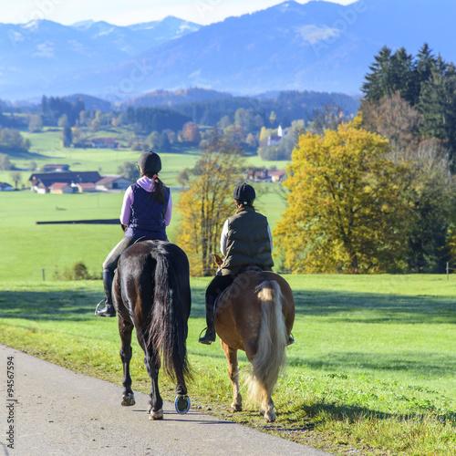 Poster Equitation Reitausflug ins Grüne