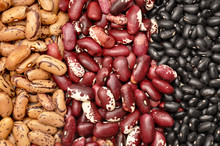 Beans - Red Pointed, Black, Pinto Beans