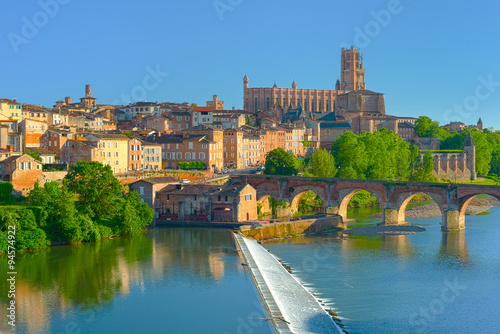 Wall Murals Blue Albi in a summer sunny day