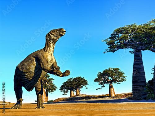 Photo Huge prehistoric dinosaur
