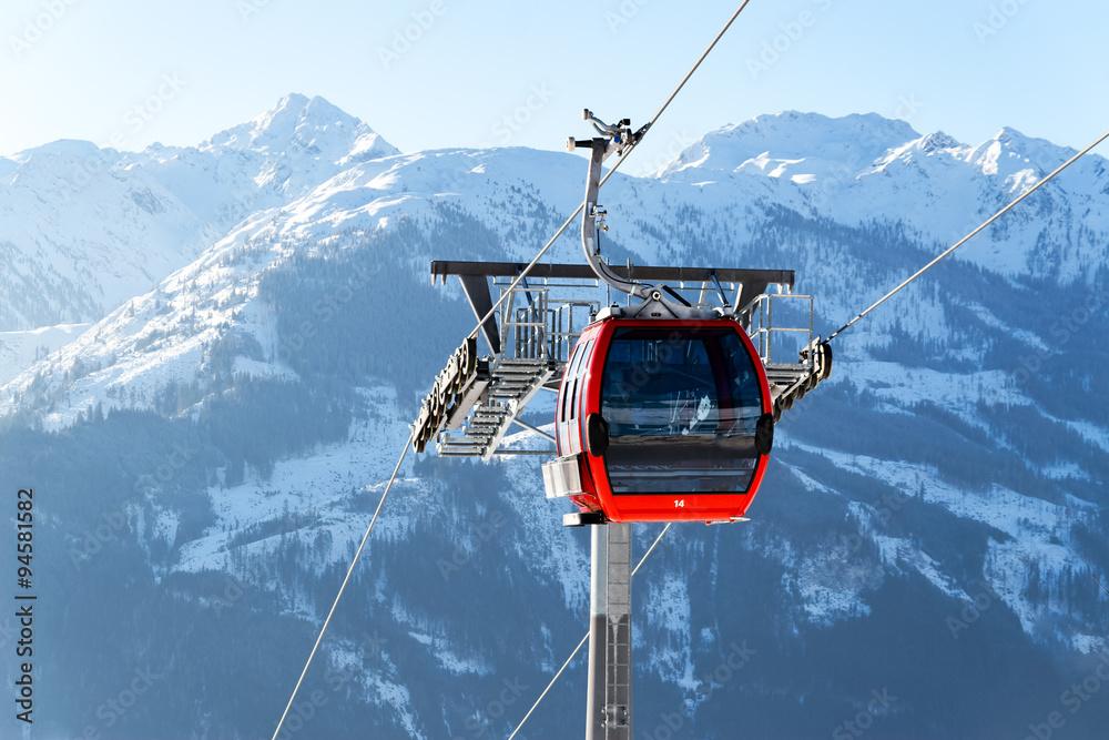 Fototapety, obrazy: skilift