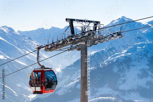 Türaufkleber Gondeln skilift