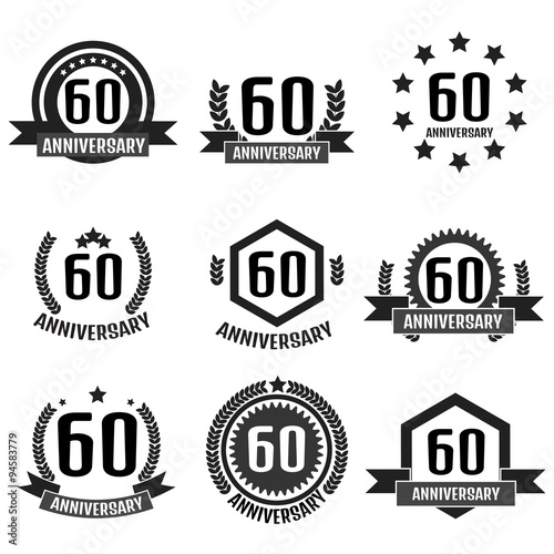 Fotografie, Tablou  Anniversary logo 60th. Anniversary 60.