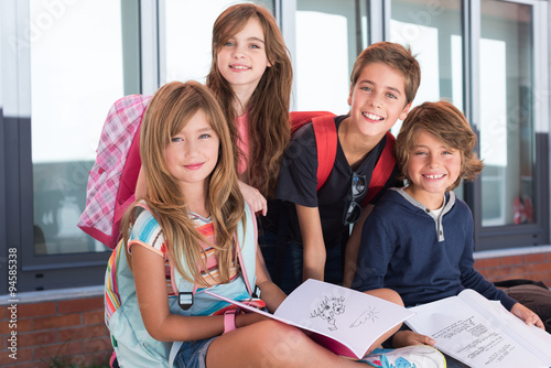 Kids in School Poster