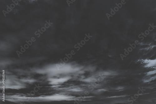 Fotografie, Obraz  Sfondo di cielo scuro, nero