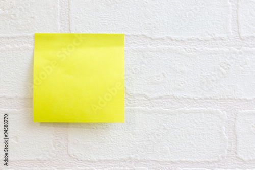 Post It Note Or Sticky On White Wallpaper Brick Pattern Use For Background