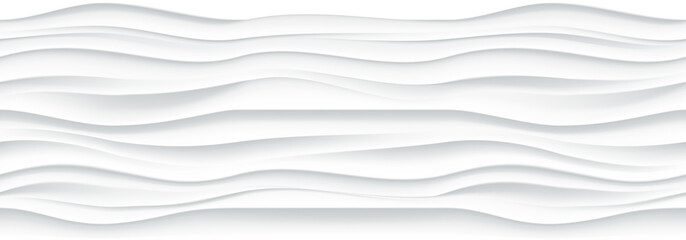 Fototapeta Abstrakcja White wavy panel seamless texture background.
