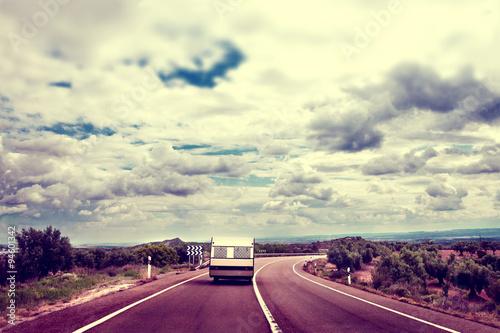 Fotografering  Paisaje y caravana