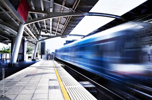 Fotografie, Obraz  Concepto de viajes, estación de Tailandia, Bangkok, Skytrain